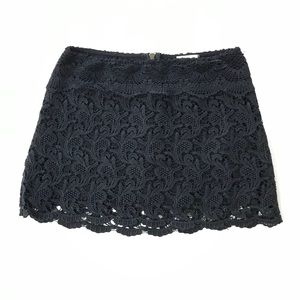Urban Outfitters Black lace crochet gothic skirt